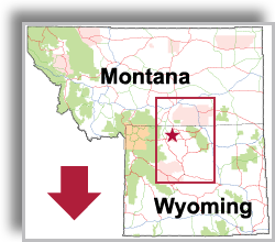 Montana - Wyoming Map thumbnail