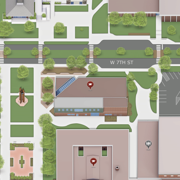 Hinckley Library on the Campus Map