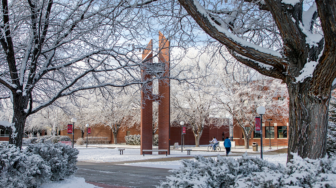 Winter Campus Scenic