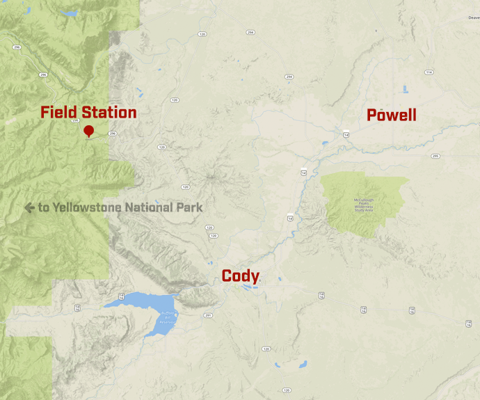 Screenshot of a map to the Field Station